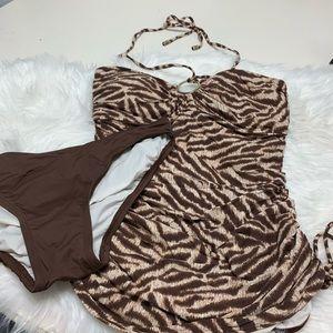 Michael Kors Tankini Bathing Suit sz S/M 2 Piece